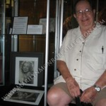 Mr. Pursel today, photographed with the signed pictures of Marilyn Monroe when they were on exhibit at the Hollywood Museum in Hollywood California.