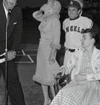 Marilyn Monroe with Baseball Player Alabie Pearson