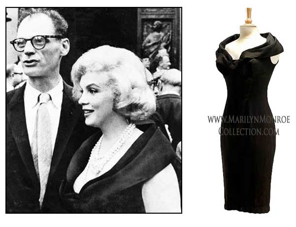 Marilyn-Monroe-Black-Cocktail-Dress