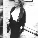 Marilyn wearing the jacket at The Actors Studio in New York City.