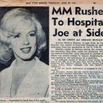 A newspaper article about Marilyn's hospitalization.
