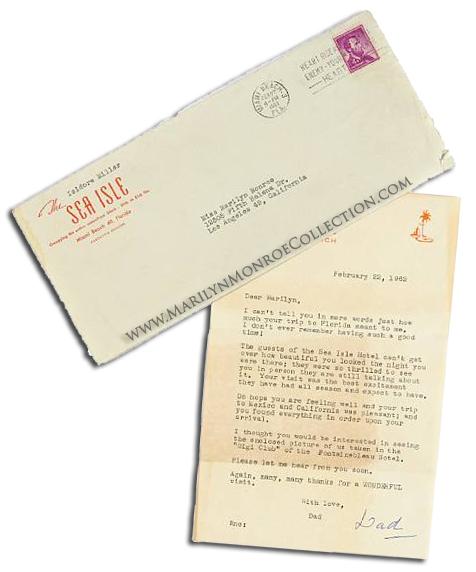 Marilyn-Monroe-Letter-from-Isidor-Miller