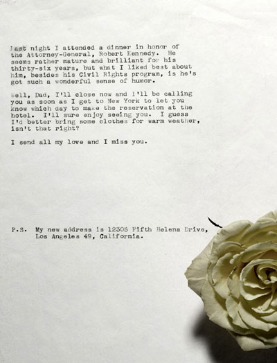 A Marilyn Monroe Received Letter From Isidore Miller
