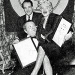 The Jewish Awards Ceremony, 1956.  Marilyn's conversion to Judaism won her praise from all the Jewish American associations. At the end of 1957 she received an award for her work promoting the Brotherhood of Peoples. Orson Welles also received recognition during the same ceremony.