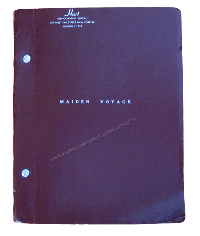 Marilyn-Monroe-Owned-Script-Maiden-Voyage