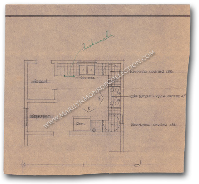 Marilyn-Monroe-Personal-Kitchen-Architectual-Drawing