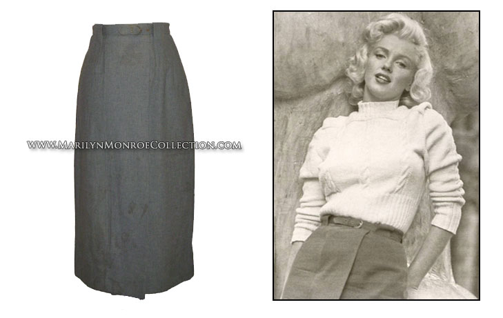 Marilyn monroe bedroom set - Marilyn Monroe S Personal Casual Skirt Amp Belt