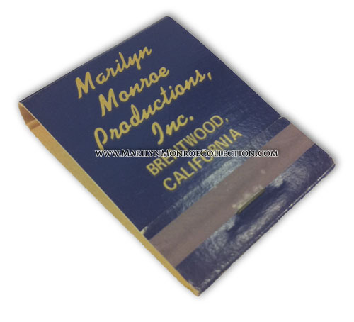 Marilyn-Monroe-Productions-Matchbook
