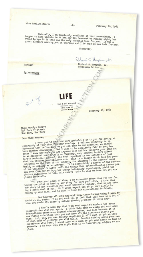 Marilyn-Monroe-Richard-Meryman-Life-Magazine-Letter