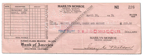 marilyn-monroe-check-signed-by-inez-melson