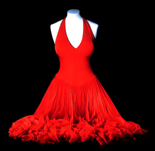 The Personal Property Of Marilyn Monroe A Scarlet Dress