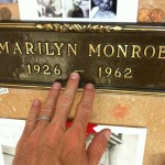 Marilyn Monroe collector and historian Scott Fortner visits Marilyn Monroe's crypt on August 5, 2012, following the 50th anniversary memorial.