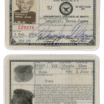 Marilyn Monroe's USO ID Card