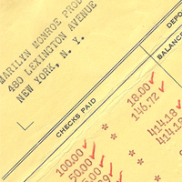 Marilyn Monroe Financial Documents