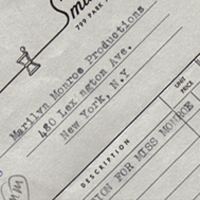 Marilyn Monroe Invoices & Receipts