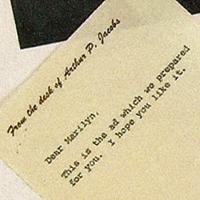 Marilyn Monroe Letters