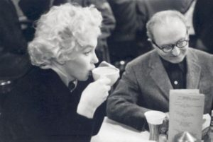 Marilyn Monroe and Lee Strasberg, New York City, 1955