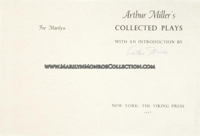 marilyn-monroe-arthur-miller-signed-title-page-collective-plays