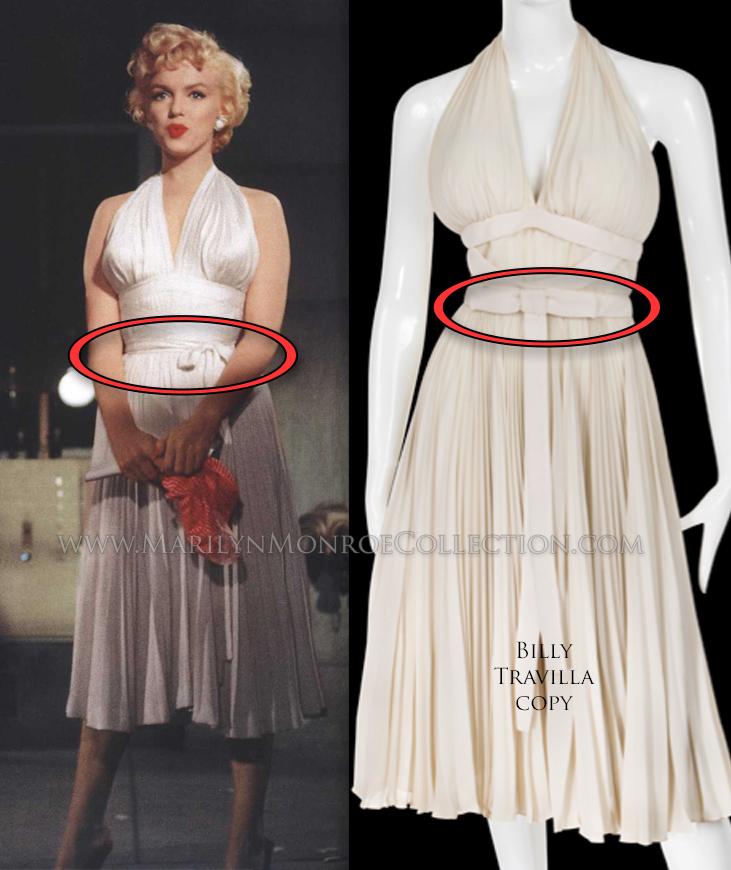 Marilyn Monroe Seven Year Itch Subway Scene Travilla Costume Replica ...