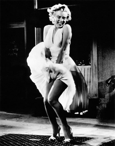 Century since marilyn monroe wore her seductive white halter neck dress in the seven year itch but it still ranks number one as the most iconic fashion