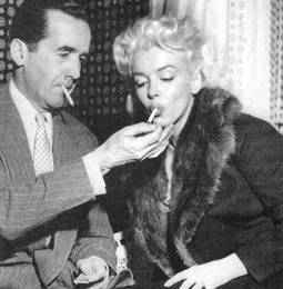 "Marilyn meeting with Edward R. Murrow, days before her televised ""Person to Person"" television interview on April 8, 1955."