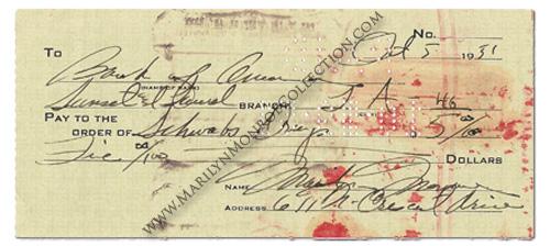 Marilyn-Monroe-October-5-1951-Check