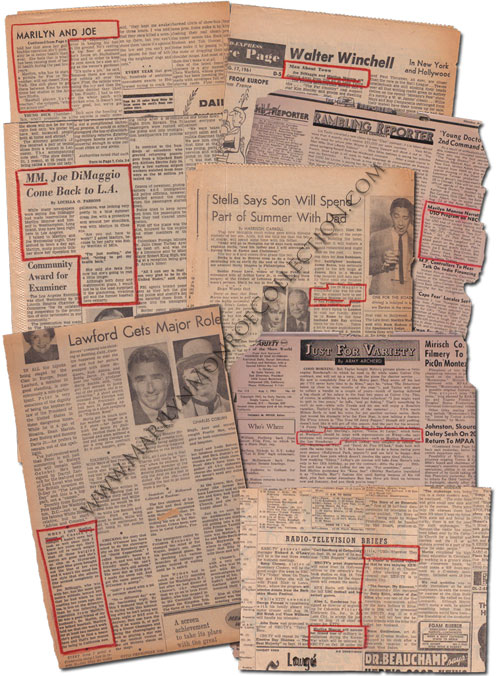 Marilyn-Monroe-Owned-Newspaper-Clippings