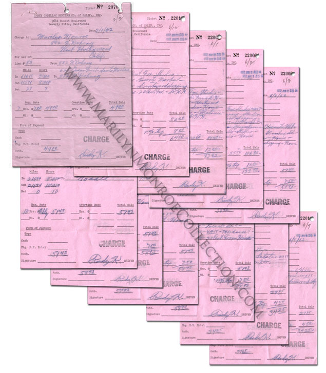 Marilyn-Monroe-Personal-Limousine-Receipts