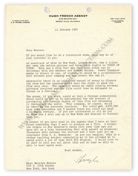 Marilyn-Monroe-Hugh-French-Touch-Of-Venus-Letter-1
