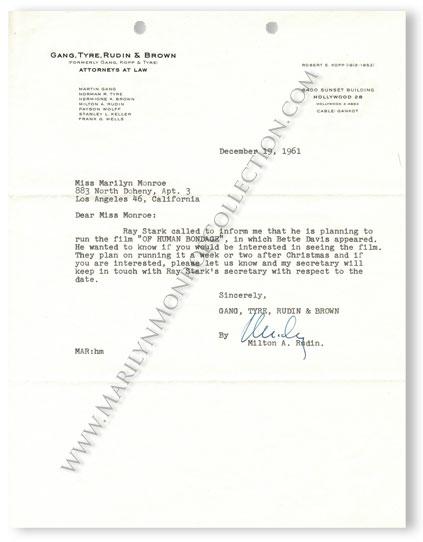 Marilyn-Monroe-Milton-Rudin-Of-Human-Bondage-Letter-1