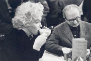 Marilyn Monroe and Lee Strasberg, New York City, 1955