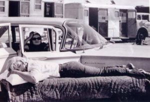 Paula Strasberg and Marilyn Monroe on the set of The Misfits, 1960