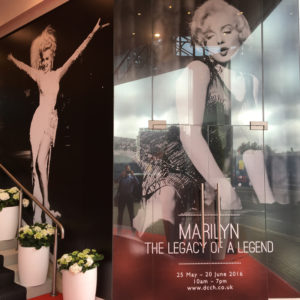 The Marilyn Monroe Exhibit at the Design Centre, Chelsea Harbor, London, England, May 25th – June 20th, 2016